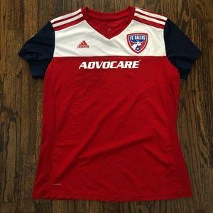 Women's Adidas FC Dallas MLS Soccer Jersey Sz XL